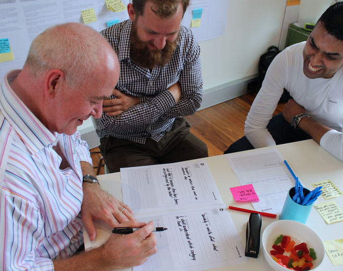 Sydney Metro customers and Proto conducting customer research workshop