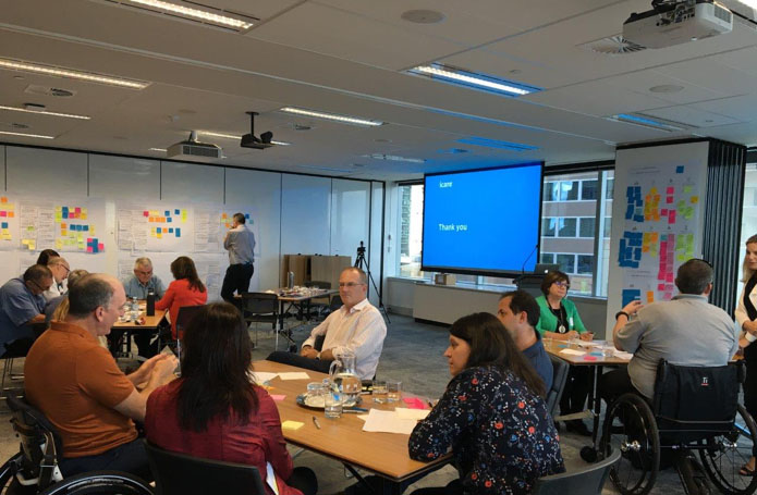 iCare injured workers and Proto conducting customer research workshop
