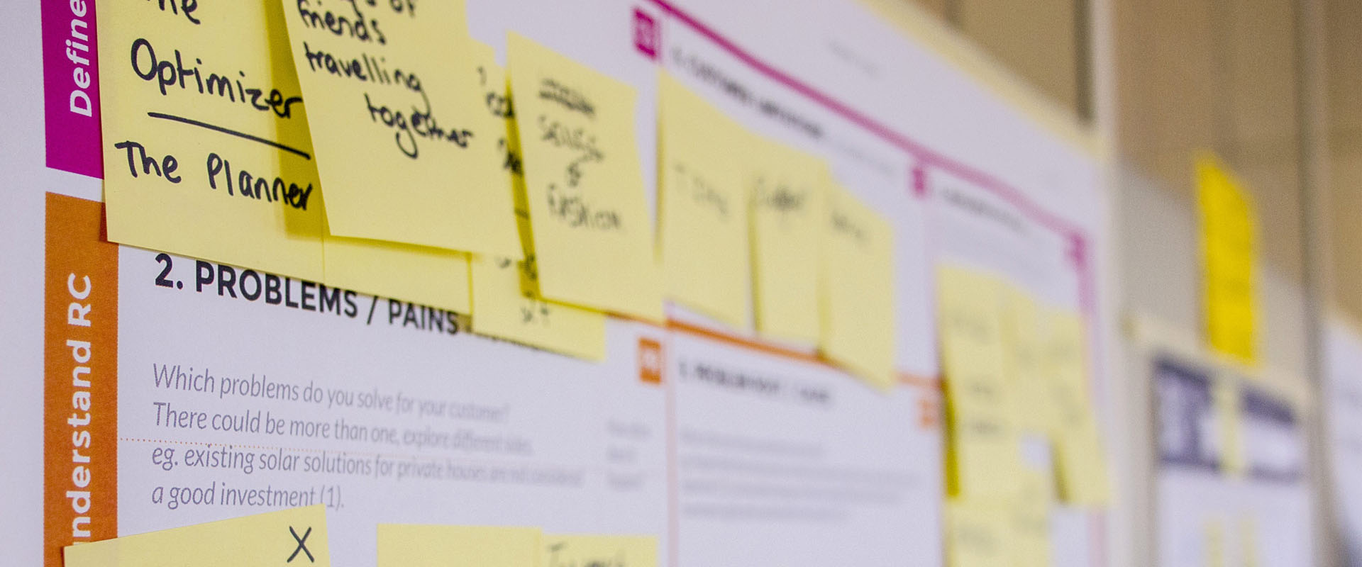 Research notes on a Customer Experience journey map